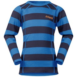 Fjellrapp Kids Shirt Navy / Athens Blue Striped
