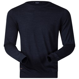 Fivel Wool Long Sleeve Dark Blue Melange