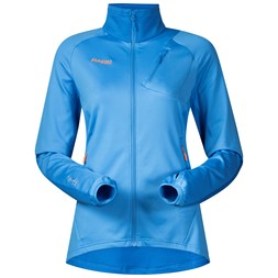 Galdebergtind Lady Jacket Light Winter Sky / Athens Blue / Pumpkin