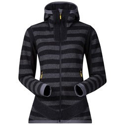 Hollvin Wool Lady Jacket Solid Charcoal / Solid Dark Grey Striped