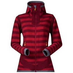 Hollvin Wool Lady Jacket Burgundy / Red Striped