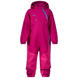 Snøtind Insulated Kids Coverall Cerise / Hot Pink / Light Winter Sky