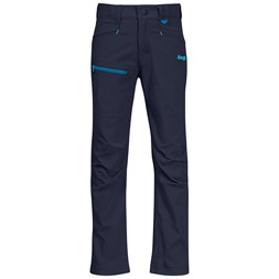 Lilletind Light Softshell Kids Pants Navy / Polar Blue / Light Polar Blue