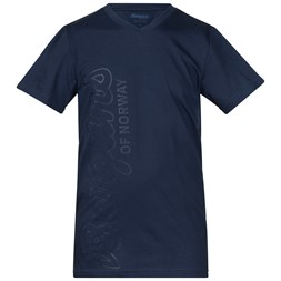 Bergans Youth Tee Dark Steel Blue / Dark Navy / Steel Blue