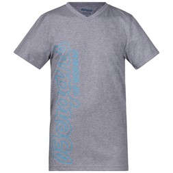 Bergans Youth Tee Grey Melange / Glacier / Steel Blue