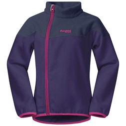 Ruffen Fleece Kids Jacket Light Viola / Navy / Raspberry
