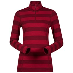 Akeleie Lady Half Zip Red / Burgundy Striped