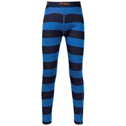 Fjellrapp Kids Tights Navy / Athens Blue Striped