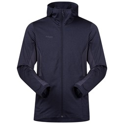 Lom Fleece Jacket with Hood Dark Navy / Night Blue