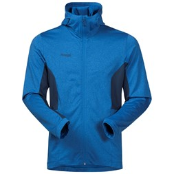Lom Fleece Jacket with Hood Fjord / Dark Steel Blue