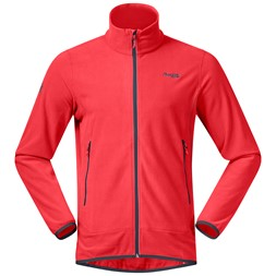 Lovund Fleece Jacket Fire Red / Solid Dark Grey