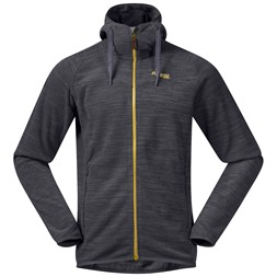 Hareid Fleece Jacket Solid Charcoal Melange / Waxed Yellow