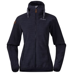 Hareid Fleece W Jacket Dark Navy Melange