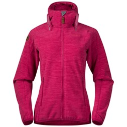 Hareid Fleece W Jacket Bougainvillea Melange