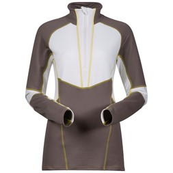 Roni Lady Half Zip Light Cocoa / White / Yellowgreen