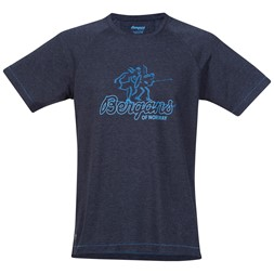 Bergans Tee Navy Melange / Light Winter Sky / Ocean