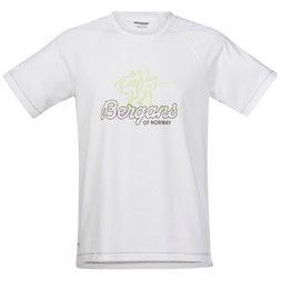 Bergans Tee White / Faded Olive / Spring Leaves