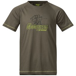 Bergans Tee Green Mud / Sprout Green / Seaweed