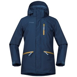 Alme Insulated Youth Jacket Dark Steel Blue / Steel Blue / Yellowgreen