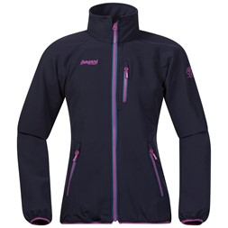 Kjerag Youth Girl Jacket Navy / Steel Blue / Pink Rose