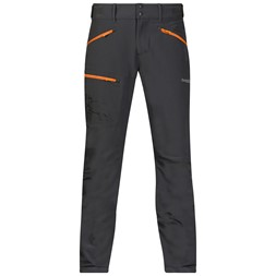 Brekketind Pants Solid Charcoal / Pumpkin