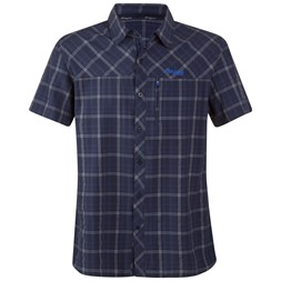 Langli Shirt Short Sleeves Navy Check