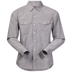 Justøy Shirt Long Sleeve Solid Grey