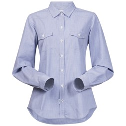 Justøy Lady Shirt Long Sleeve Chambray Blue