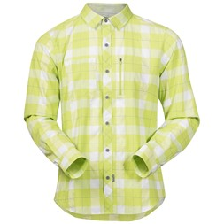 Jondal Shirt Long Sleeve Spring Leaves / White Check