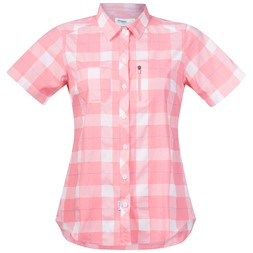 Jondal Lady Shirt Short Sleeve Pale Coral / White Check