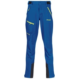 Sjoa Lt Softshell Youth Pants Classic Blue / Sprout Green