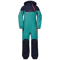 Ruffen Insulated Kids Coverall Greenlake / Navy / Bright Magma