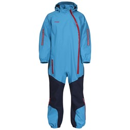 Lilletind Kids Coverall Polar Blue / Navy / Fire Red