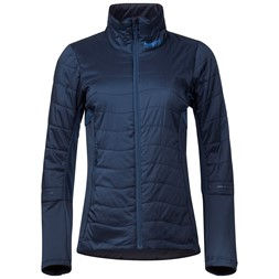Fløyen Light Insulated W Jacket Dark Steel Blue / Fjord