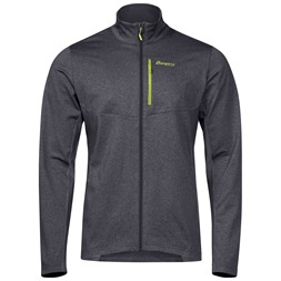 Fløyen Fleece Jacket Solid Dark Grey / Sprout Green
