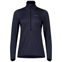 Fløyen Fleece W Half Zip Dark Navy / Dark Steel Blue