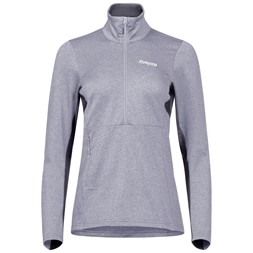 Fløyen Fleece W Half Zip Aluminium / Solid Dark Grey / White