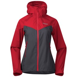 Microlight W Jacket Solid Dark Grey / Fire Red
