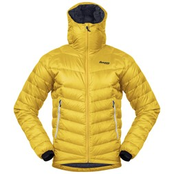 Slingsby Down Light Jacket w/Hood Waxed Yellow / Solid Dark Grey