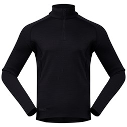 Snøull Half Zip Black / Solid Charcoal