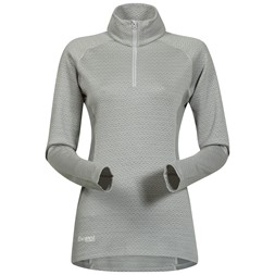 Snøull Lady Half Zip Aluminium / Solid Light Grey / White
