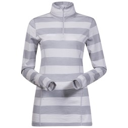 Soleie Lady Half Zip Aluminium / Solid Light Grey Striped